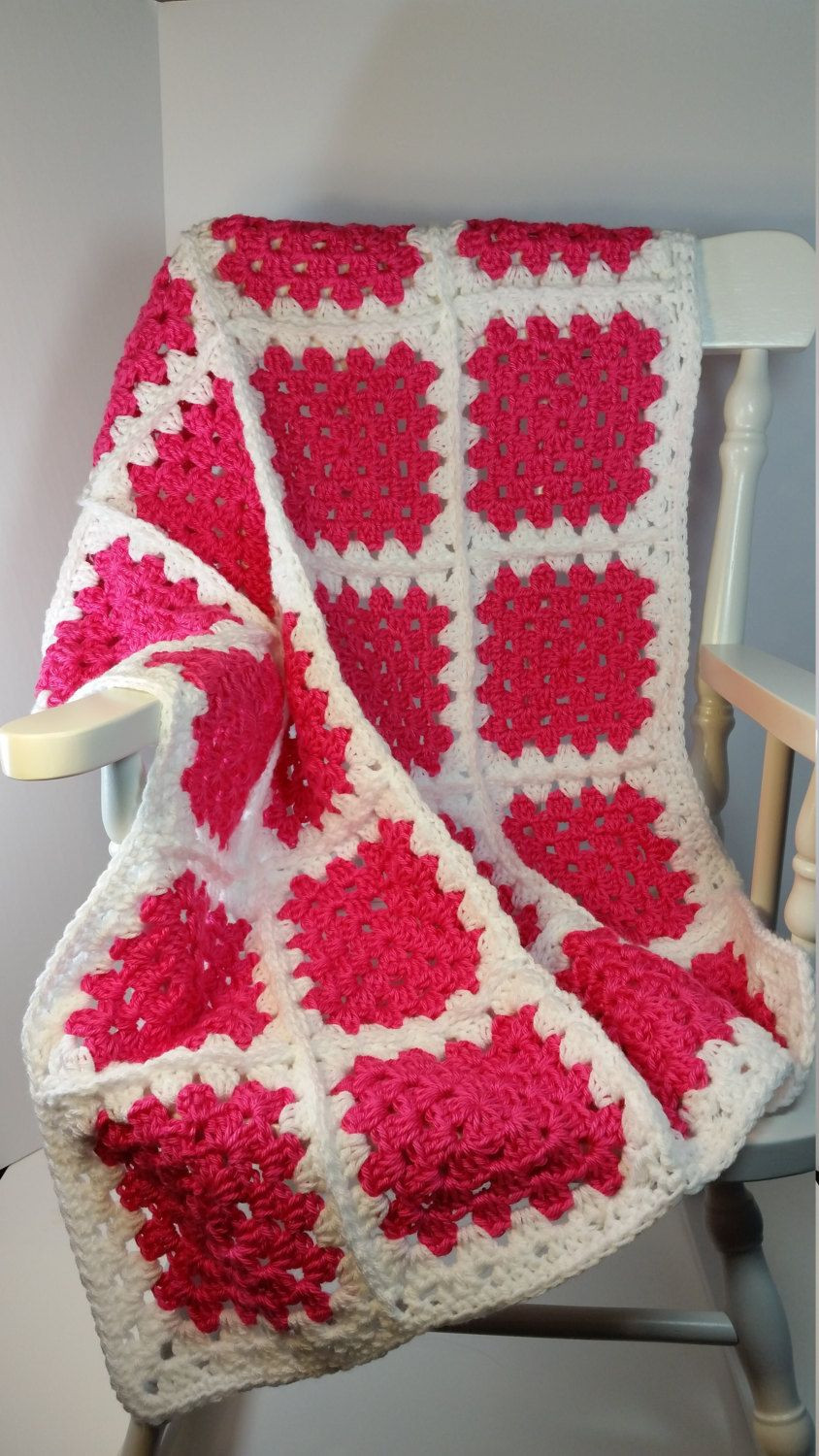 Beautiful Crochet Baby Blanket Hot Pink White Granny Square Stroller Baby Blanket Size Crochet Of Contemporary 49 Pictures Baby Blanket Size Crochet
