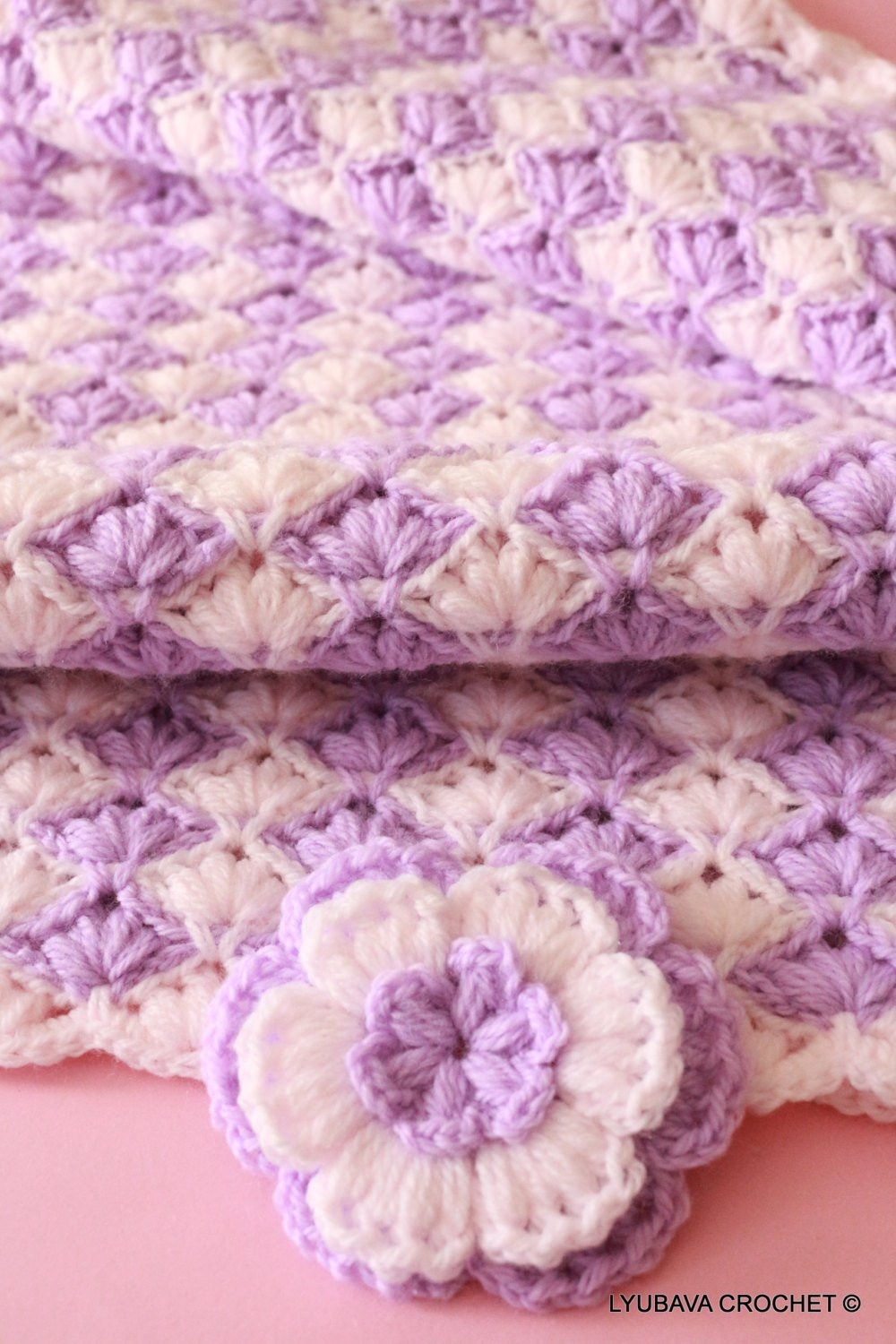 Beautiful Crochet Baby Blanket Lilac Lily Baby Blanket for Girls Baby Crochet Baby Blanket Tutorial Of Top 46 Pics Crochet Baby Blanket Tutorial