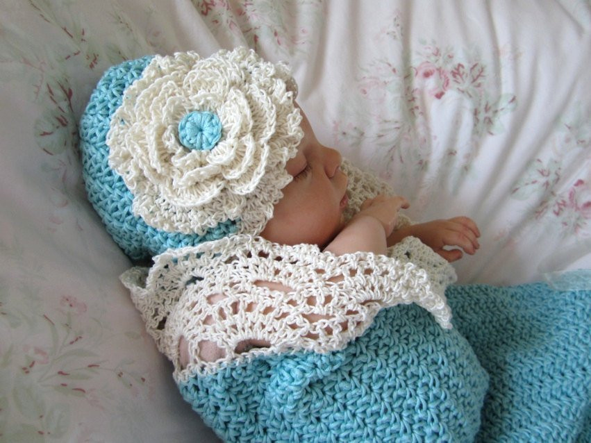 Beautiful Crochet Baby Cocoon and Hat Pattern Prop Pattern Seaside Crochet Baby Cocoon Of Great 44 Models Crochet Baby Cocoon