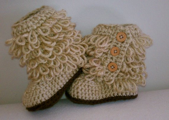 Beautiful Crochet Baby Ugg Inspired Boots Booties Tan Fall Winter Baby Crochet Ugg Boots Of Beautiful 42 Ideas Crochet Ugg Boots