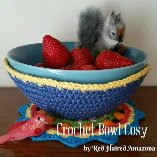 Beautiful Crochet Bowl Covers Free Patterns and Video Crochet Bowl Cozy Of New 36 Images Crochet Bowl Cozy