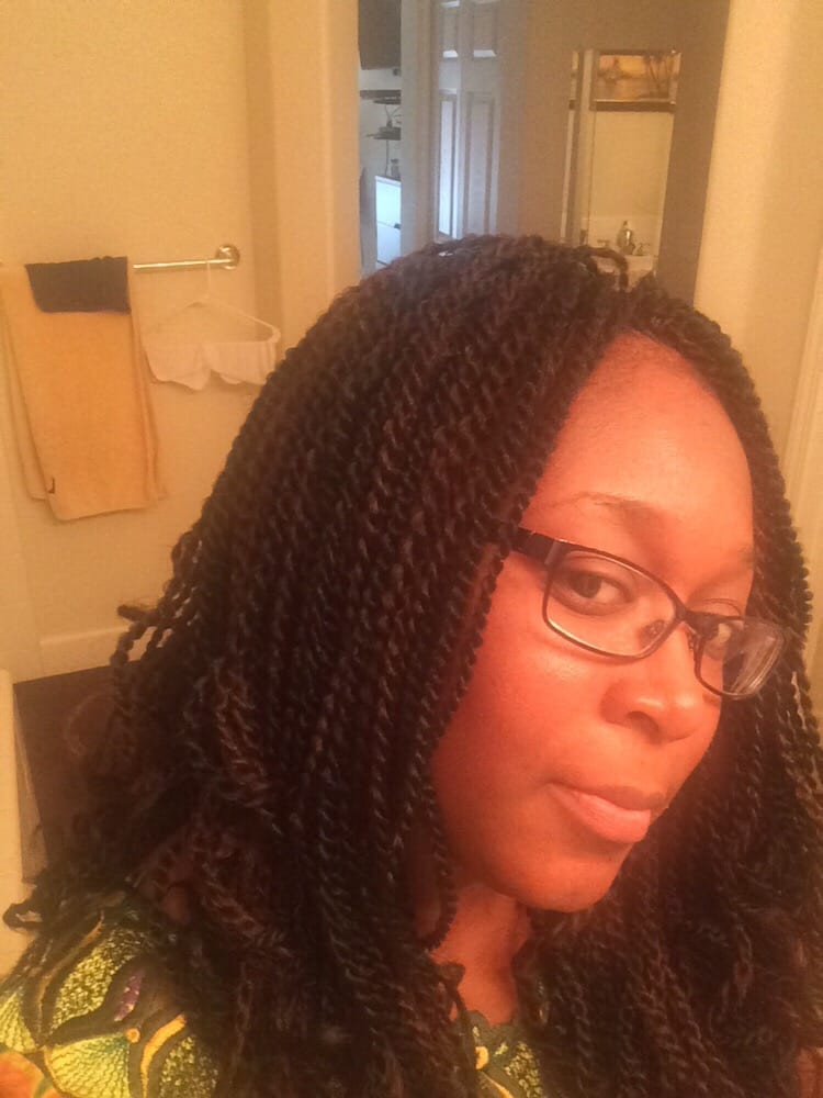 Crochet braids with pre twisted senegalese hair Yelp