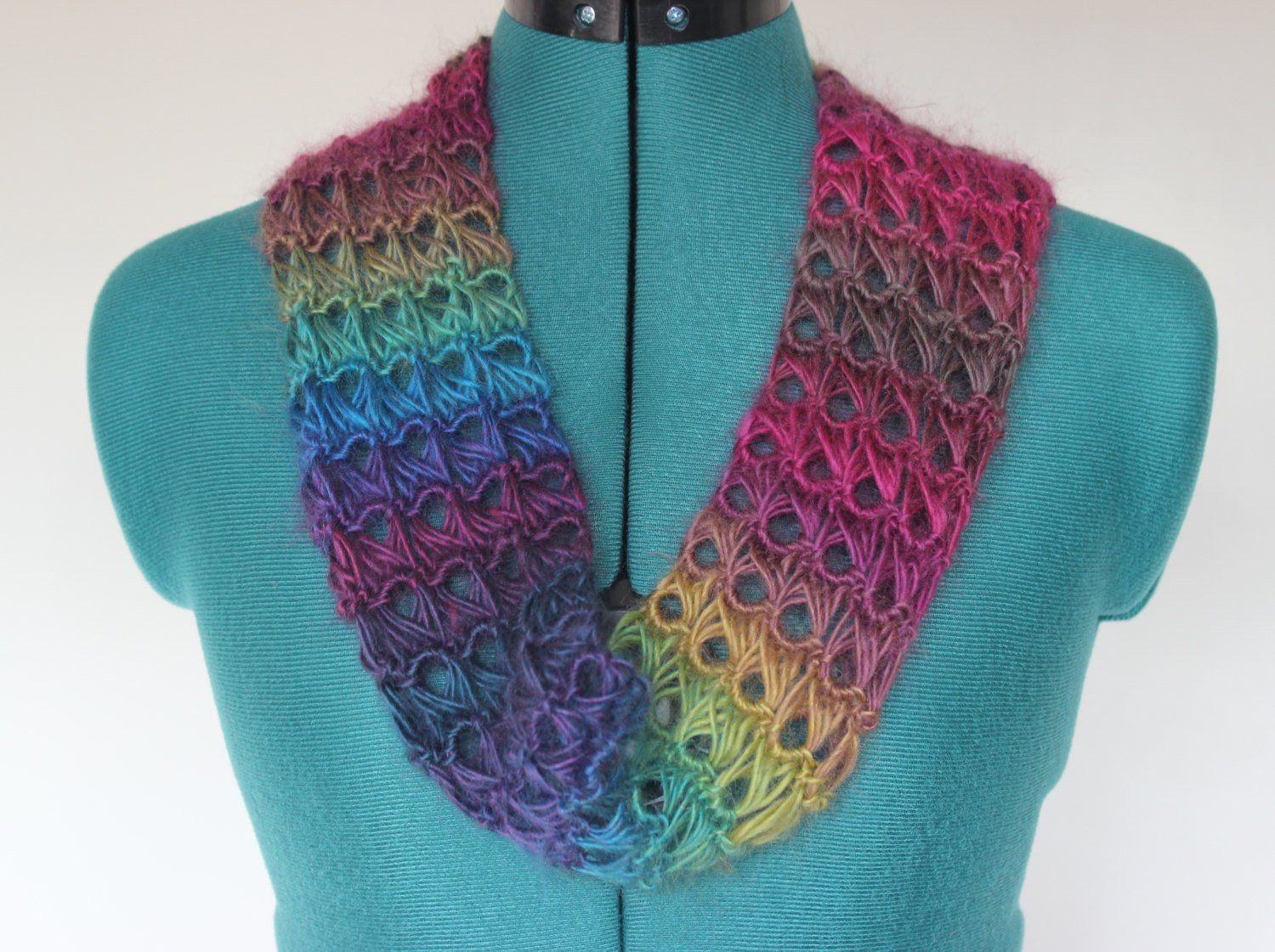 Beautiful Crochet Broomstick Lace Infinity Scarf Lace Infinity Scarf Of Charming 45 Ideas Lace Infinity Scarf
