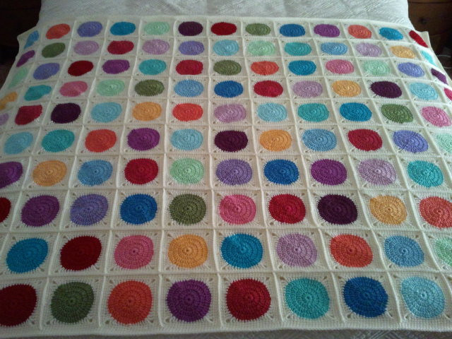Crochet Circle in a Square Afghan Blanket Explored