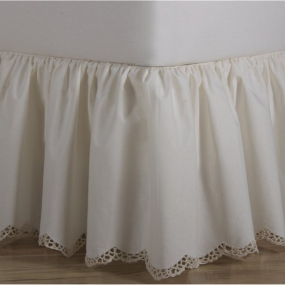 Beautiful Crochet Edge Scalloped Cotton Bed Skirt Crochet Bed Skirts Of Gorgeous 41 Pics Crochet Bed Skirts
