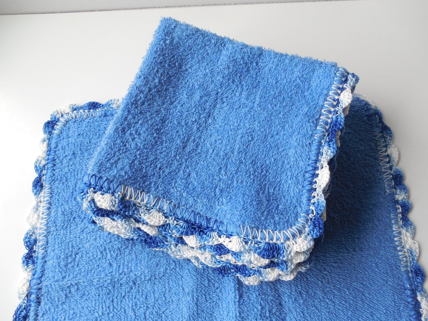 Beautiful Crochet Edged Blue Wash Cloth Dish Cloths by Crochet Dish Rags Of Top 42 Models Crochet Dish Rags