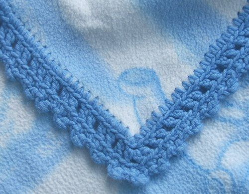 Crochet edging patterns Baby blankets and Flannel baby