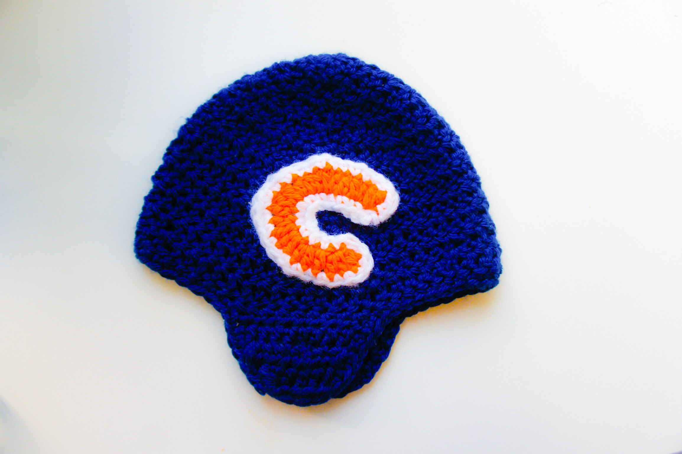 Beautiful Crochet Football Bearded Helmet – Chicago Bears – Mama Crochet Football Helmets Of Lovely 48 Pics Crochet Football Helmets