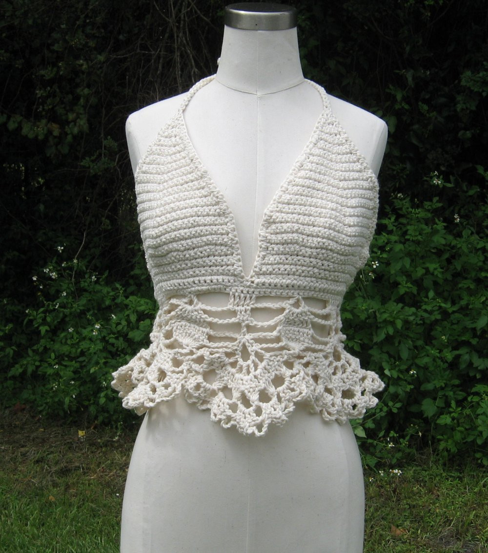 Beautiful Crochet Halter top F White Crochet Halters Of Incredible 40 Models Crochet Halters