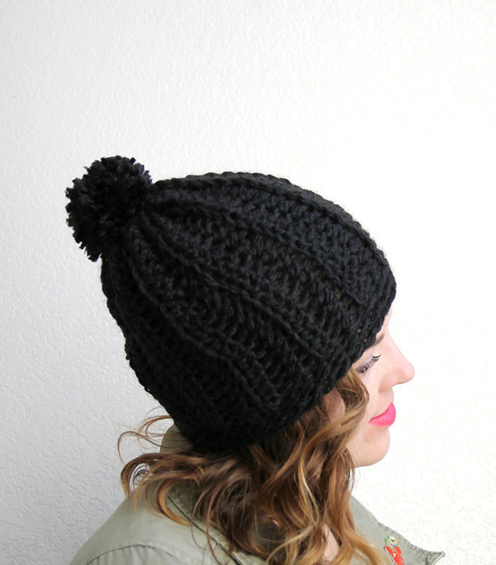 Beautiful Crochet Hat Pattern Chunky Ribbed Slouch Hat Darice Chunky Crochet Beanie Pattern Of Lovely Crochet Hat Pattern Chunky Back Loop Beanie Uni Chunky Crochet Beanie Pattern