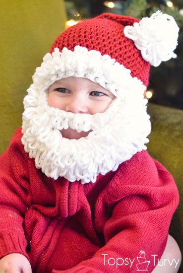 Beautiful Crochet Hat with Beard Collection for Babies 2015 11 Santa Hat Crochet Pattern Of Gorgeous 44 Pictures Santa Hat Crochet Pattern