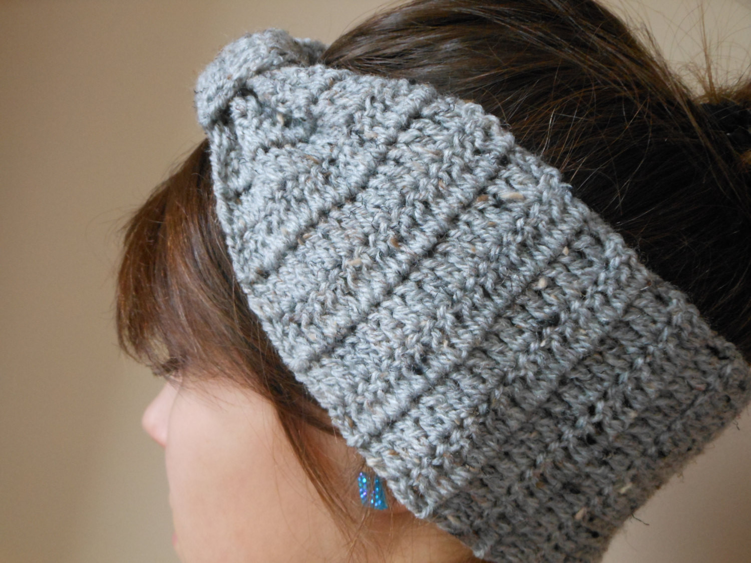 Beautiful Crochet Headband Ear Warmer Head Warmer Grey Tweed Crochet Head Warmer Of Fresh 39 Photos Crochet Head Warmer
