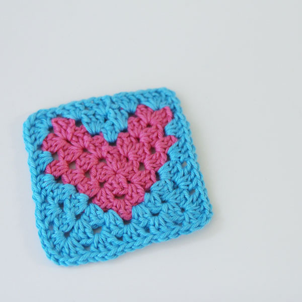Crochet Heart Pattern Free Granny Square Tutorial by