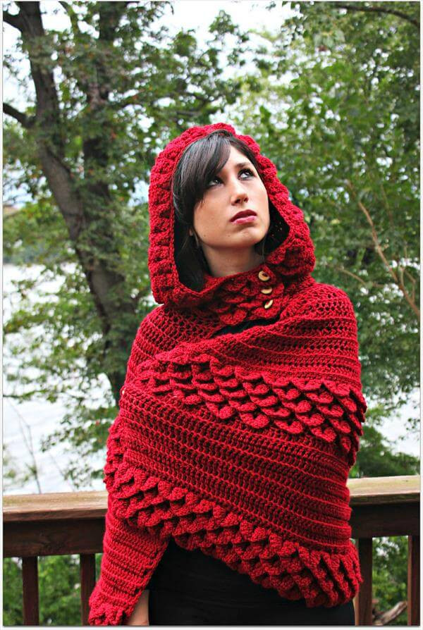Beautiful Crochet Hooded Cape Red Riding Hood Cape Pattern Of Charming 43 Pictures Red Riding Hood Cape Pattern