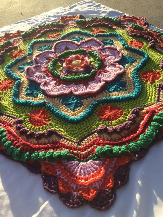 Beautiful Crochet Mandala Lapghan Blanket Afghan Baby by Lapghan Crochet Patterns Of Wonderful 47 Pics Lapghan Crochet Patterns
