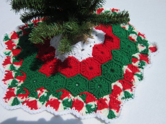Beautiful Crochet Mini Christmas Tree Skirt Crochet Tree Skirt Of Innovative 45 Ideas Crochet Tree Skirt
