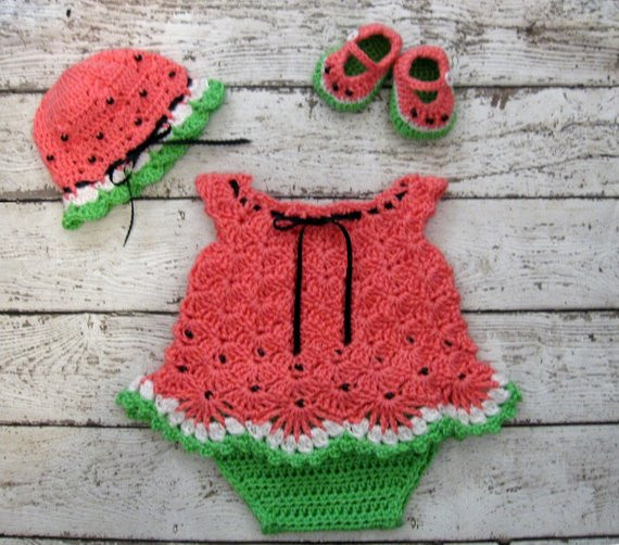Beautiful Crochet Newborn Baby Dress Set Watermelon Baby Dress Set Crochet Dress for Baby Of Amazing 42 Photos Crochet Dress for Baby