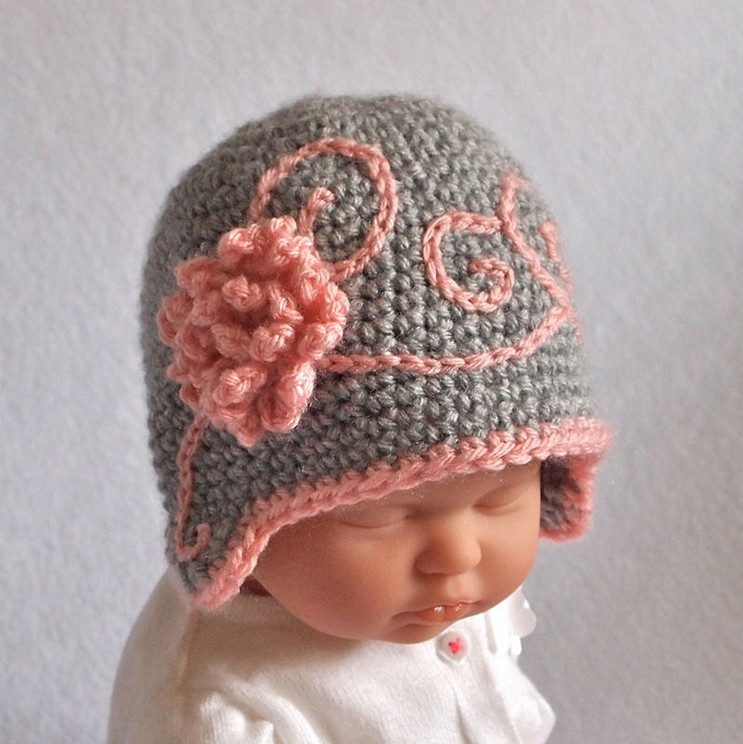 Beautiful Crochet Newborn Hat with Beautiful Design Homestylediary Crochet Flower for Baby Hat Of Beautiful 42 Ideas Crochet Flower for Baby Hat