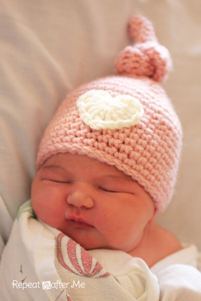 Beautiful Crochet Newborn Knot Hat Pattern Repeat Crafter Me Newborn Hat Pattern Of Great 46 Models Newborn Hat Pattern
