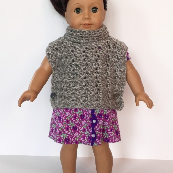 Beautiful Crochet Pattern Fiona Poncho with Cowl for American Girls Crochet Poncho Pattern Of Incredible 49 Pictures Girls Crochet Poncho Pattern