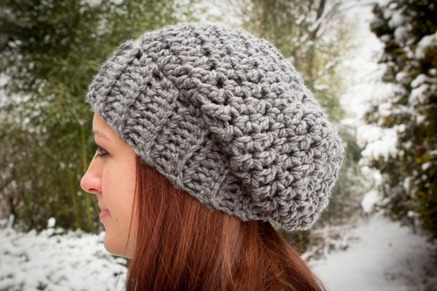 crochet pattern for a chunky slouch hat