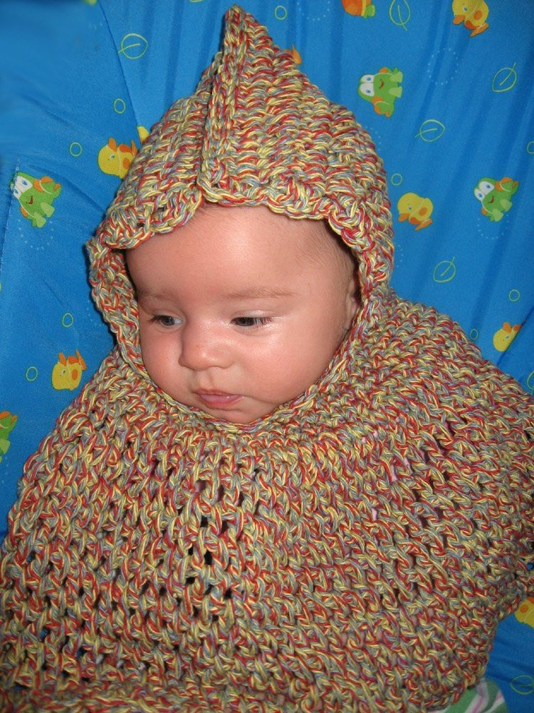 crochet pattern for childs poncho 2