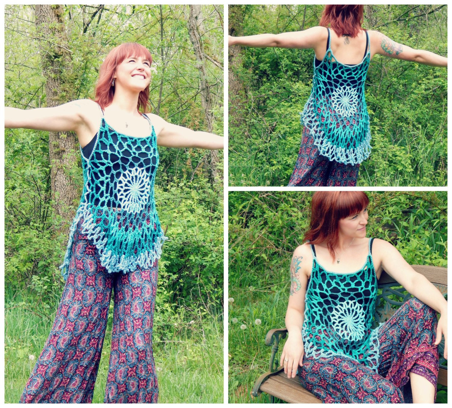 Beautiful Crochet Pattern Mandala top Romantic Hippie Festival Tank Crochet Festival top Of Top 44 Ideas Crochet Festival top