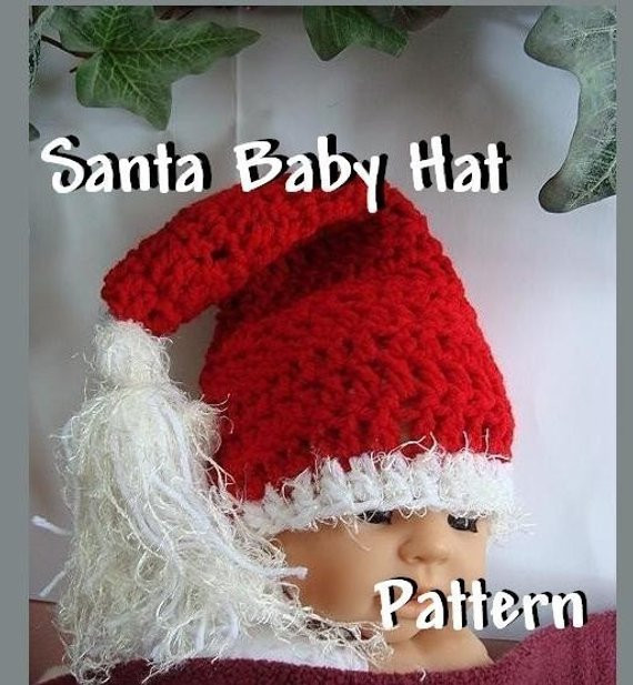 Beautiful Crochet Pattern Santa Baby Number 93 Santa Baby Hat Santa Hat Pattern Of Awesome Items Similar to Knitting Pattern Santa Christmas Hat or Santa Hat Pattern