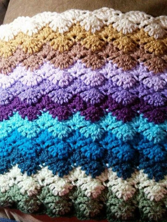 Beautiful Crochet Pattern Shell Afghan Dancox for Shell Stitch Afghan Of Unique 45 Photos Shell Stitch Afghan
