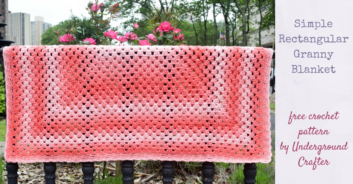Beautiful Crochet Pattern Simple Rectangular Granny Blanket Easy Granny Square Pattern Of Amazing 41 Pictures Easy Granny Square Pattern