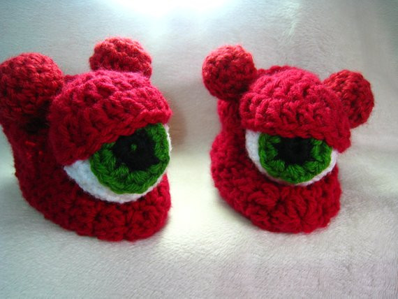 Beautiful Crochet Pattern Slipper Shoe Cyclops Monster Slipper Crochet Monster Slippers Of Awesome Flamingo Slippers Crochet Monster Slippers Crochet Monster Slippers