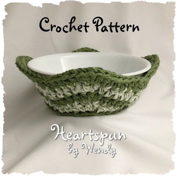 Beautiful Crochet Pattern to Make A Striped Chevron Microwave Bowl Crochet Bowl Cozy Of New 36 Images Crochet Bowl Cozy