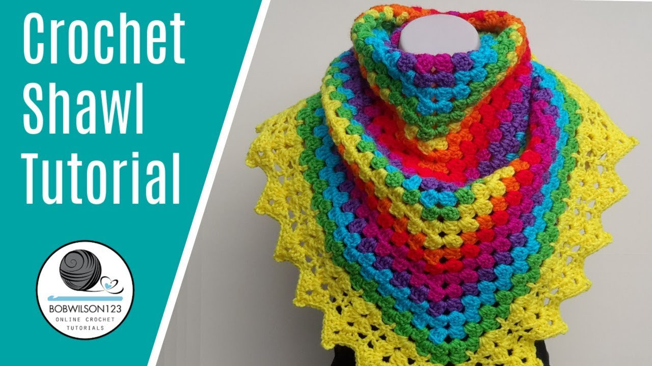 Beautiful Crochet Rainbow Shawl Tutorial Crochet Shawl Tutorial Of Attractive 40 Ideas Crochet Shawl Tutorial