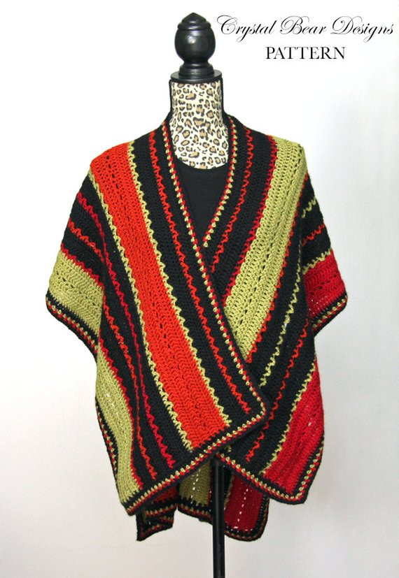 Beautiful Crochet Ruana Poncho Pattern Lightweight by Light Weight Yarn Crochet Patterns Of Awesome 40 Pics Light Weight Yarn Crochet Patterns