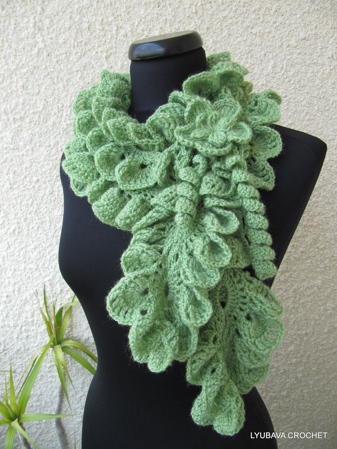 Beautiful Crochet Ruffle Scarf Made to order Fashion Neck Warmer Crochet Ruffle Scarf Of Lovely 41 Models Crochet Ruffle Scarf
