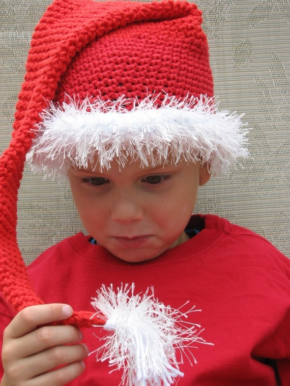 Beautiful Crochet Santa Hats – Tag Hats Santa Hat Pattern Of Unique Musings Of A Knit A Holic From Wales Knitting Pattern Santa Hat Pattern