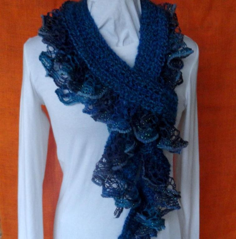 Beautiful Crochet Scarf with Ruffle Yarn Edging by Kimberleeg Craftsy Crochet Ruffle Scarf Of Inspirational Firehawke Hooks and Needles Free Pattern Ruffle Scarf Crochet Ruffle Scarf