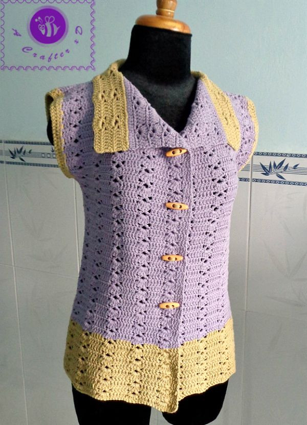 Beautiful Crochet Sleeveless Vest Free Pattern Scroll Down for A Vest Pattern Free Of Amazing 43 Images Vest Pattern Free