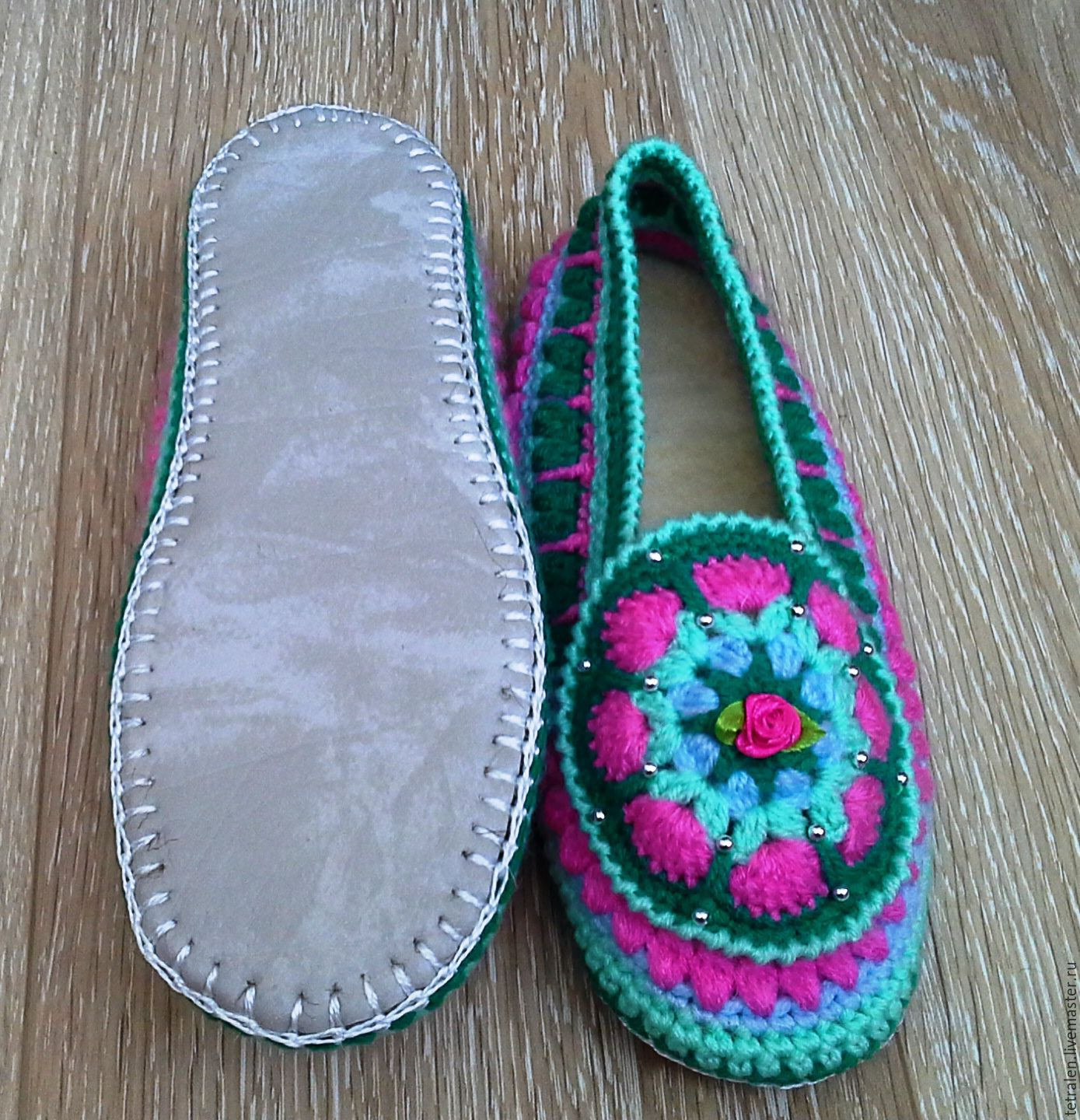Beautiful Crochet Slippers with Leather soles Slipper soles for Knitting Of Superb 40 Images Slipper soles for Knitting