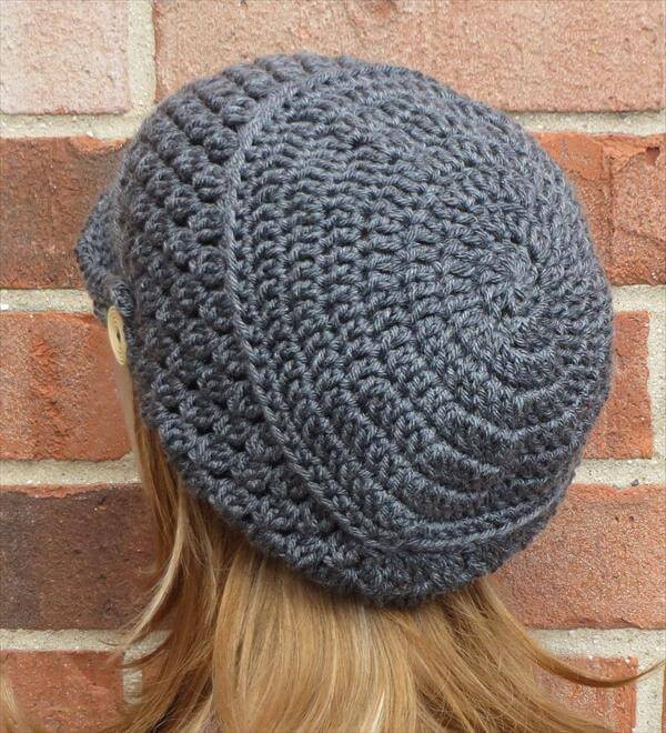 Beautiful Crochet Slouchy Newsboy Hat Brimmed Beanie Crochet Hat with Brim Free Patterns Of Incredible 49 Ideas Crochet Hat with Brim Free Patterns