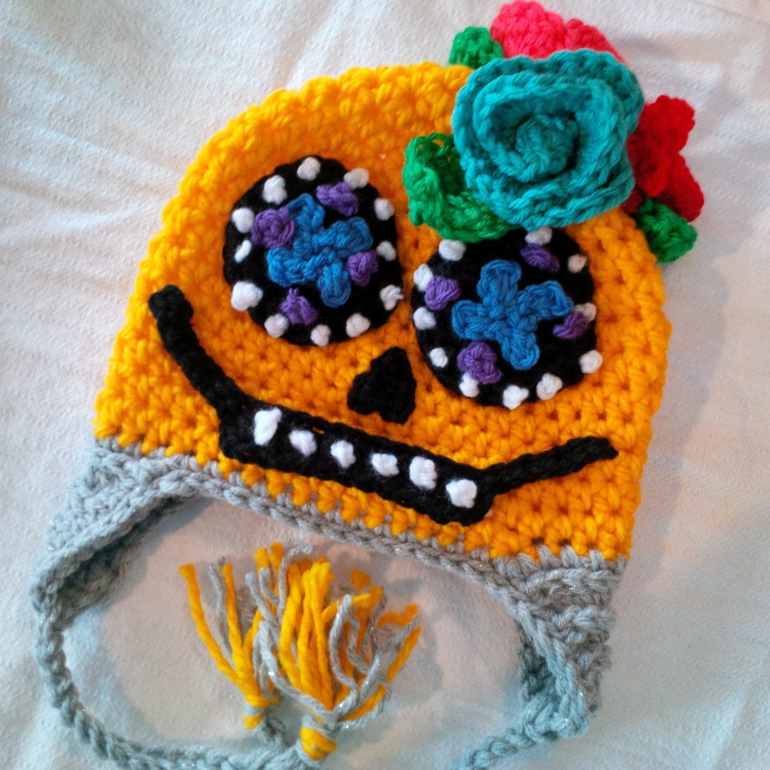 Beautiful Crochet Sugar Skull Hat Pattern Crochet Sugar Skull Of Incredible 47 Pictures Crochet Sugar Skull