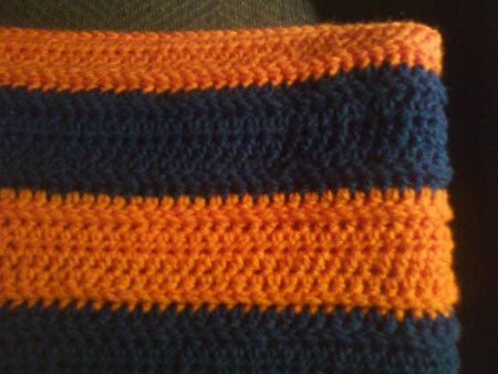 Crochet With Cris Manly Sports Lapghan Illini [Pattern]