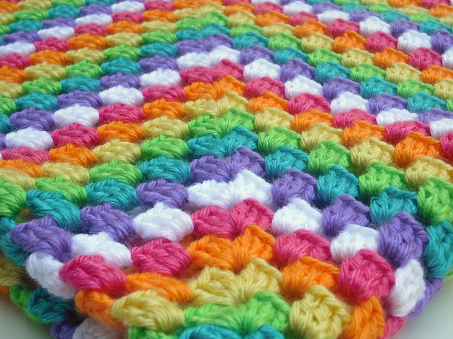 Beautiful Crocheted Baby Blanket or Lap Afghan Rainbow Granny Square Crochet Afghan Squares Of Gorgeous 46 Pics Crochet Afghan Squares