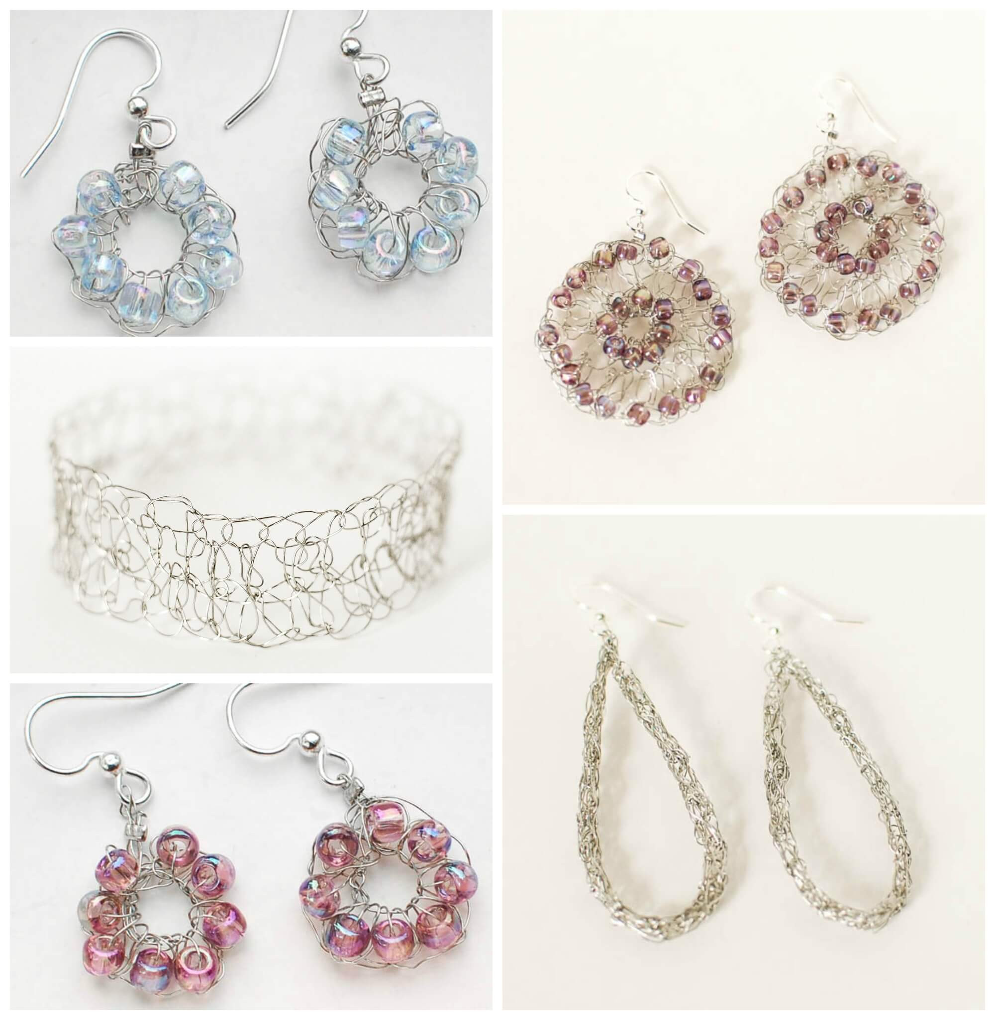 Crocheted Wire Jewelry Inspiration Happy Hour Projects