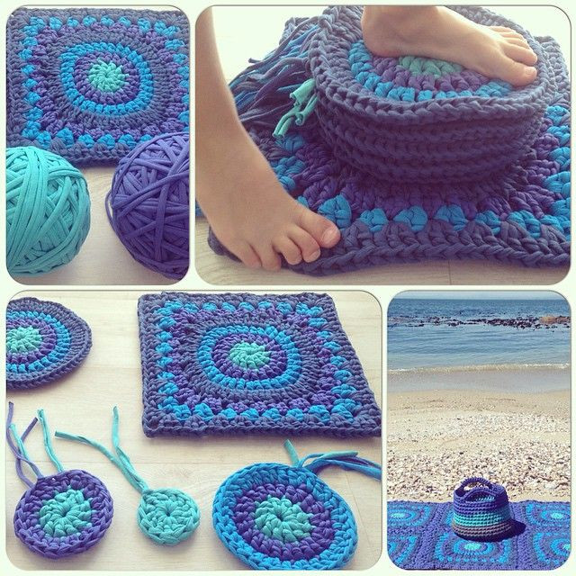 Beautiful Crochetinpaternoster Crochet Tshirt Yarn Granny Rug and Crochet Rug Patterns with Yarn Of Great 50 Images Crochet Rug Patterns with Yarn