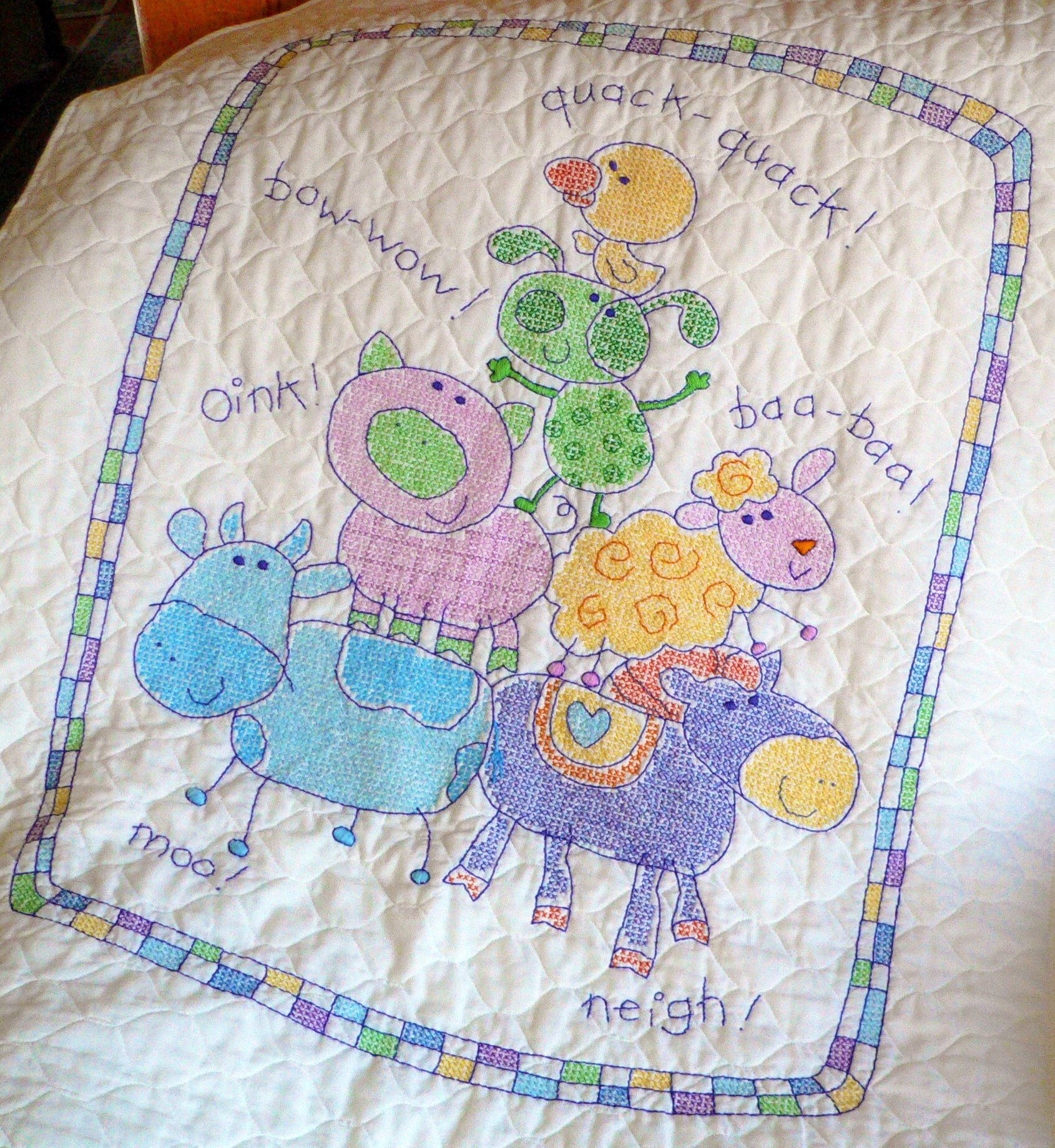 Beautiful Cross Stitch Baby Blanket I Made for My Granddaughter Baby Blanket Kits Of Delightful 48 Pictures Baby Blanket Kits