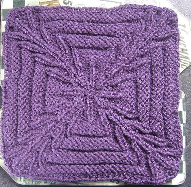 "Beautiful Crossed Purposes 9"" Knit Afghan Block Square Knitting Knitted Square Patterns Of Lovely 50 Models Knitted Square Patterns"