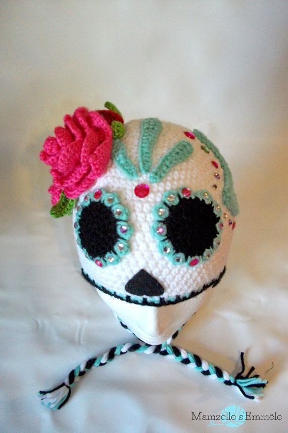Beautiful Custom Stw Ready to Ship Unique Sugar Skull Crochet Hat Crochet Sugar Skull Of Incredible 47 Pictures Crochet Sugar Skull