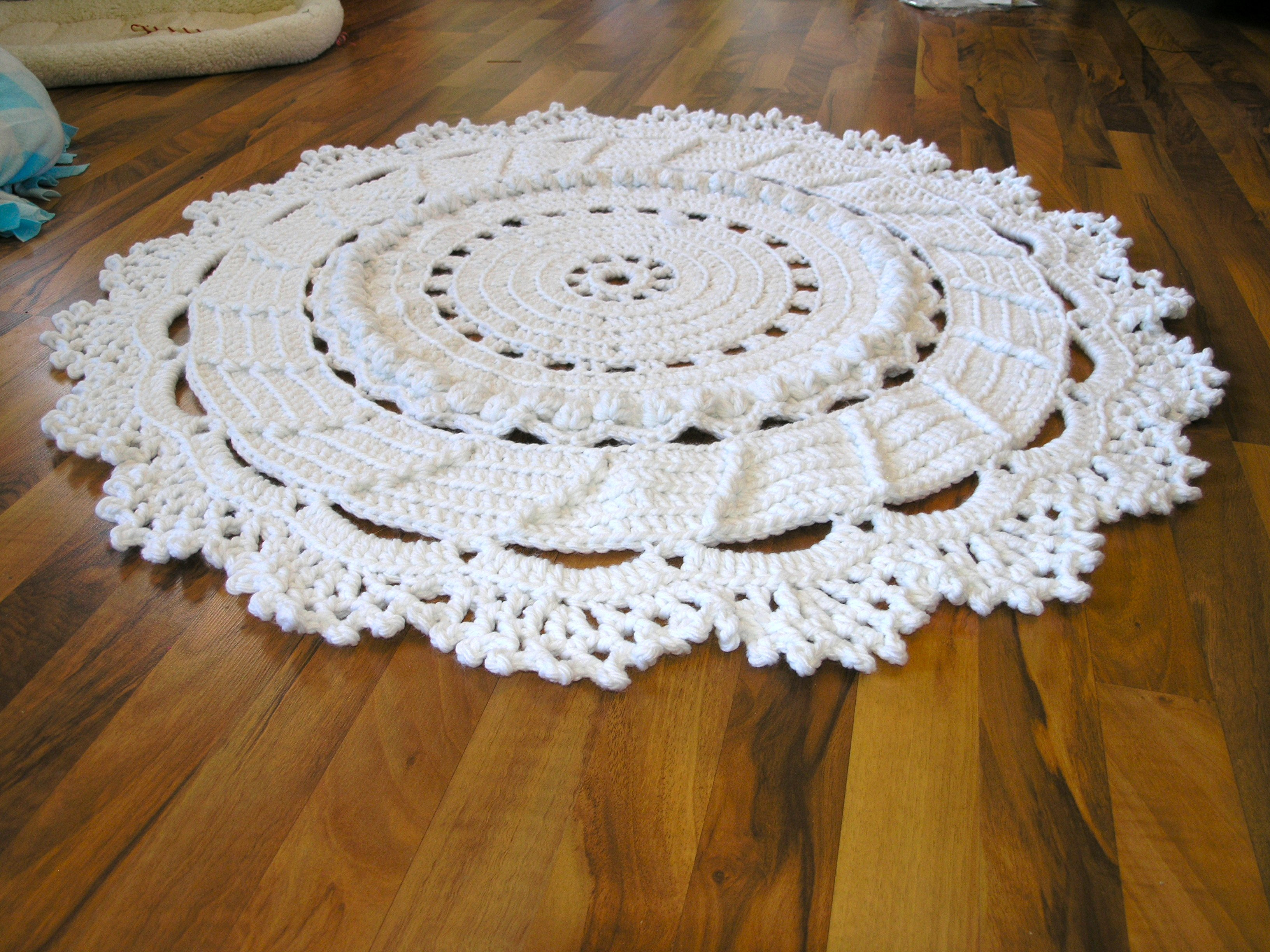 Beautiful Dances with Wools Blog Archive A Giant Crochet Doily Free Crochet Rug Patterns Of Delightful 48 Pics Free Crochet Rug Patterns