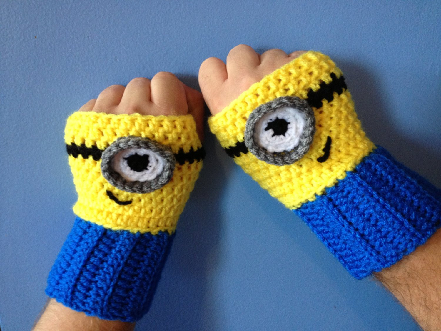 Beautiful Despicable Me Minion Inspired Fingerless Gloves Crochet Minion Crochet Pattern Of Lovely 46 Images Minion Crochet Pattern